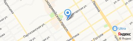 Ангел красоты на карте Барнаула