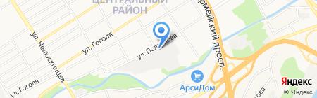 Пожоборудование на карте Барнаула