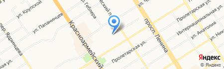 Детский сад №217 Жар-птица на карте Барнаула