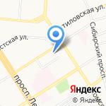 Гуляевская гимназия на карте Барнаула