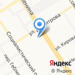 Тенториум на карте Барнаула
