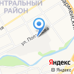 Сибиар на карте Барнаула
