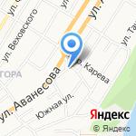 Поварешка на карте Барнаула