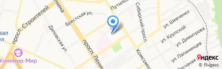 Детский сад №121 на карте Барнаула