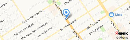 Тик-Так на карте Барнаула