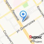 Альфа-Вега на карте Барнаула