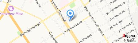 Адвокатский кабинет Дейнес М.В. на карте Барнаула