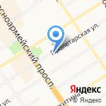 Чазер на карте Барнаула