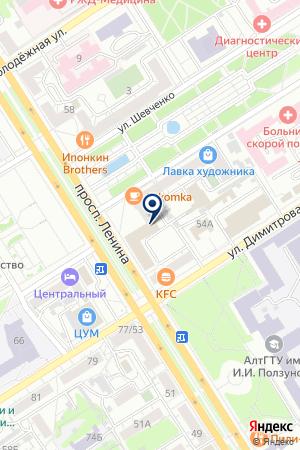 МОНТАЖНАЯ ОРГАНИЗАЦИЯ АЛТАЙТЕХНОПАРК на карте Барнаула