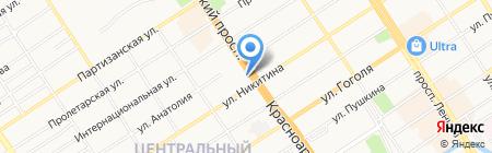 СКМ на карте Барнаула