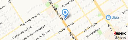 Мастерская по ремонту обуви на карте Барнаула