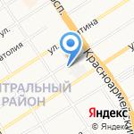 Молодежь Алтая на карте Барнаула