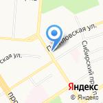 Алтай-Феликс на карте Барнаула