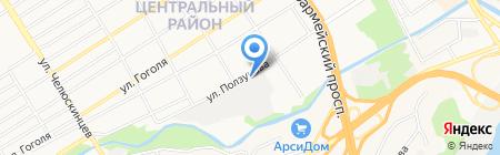 Компания по производству бахил на карте Барнаула