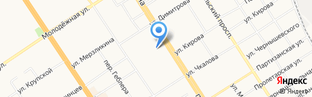 Совет ветеранов Центрального района г. Барнаула на карте Барнаула