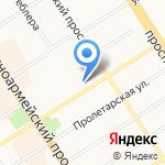 Мажирель на карте Барнаула