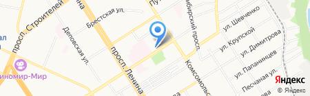 Евротур на карте Барнаула