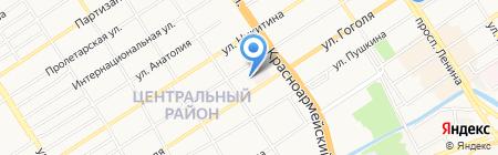 Печки-Лавочки на карте Барнаула