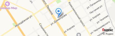 Магазин по продаже овощей и фруктов на карте Барнаула