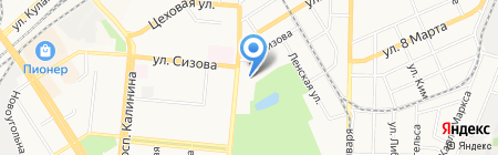 Барнаульский учебный центр федеральной противопожарной службы на карте Барнаула