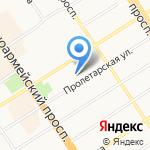 Банк Акцепт на карте Барнаула