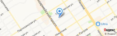 Гратис на карте Барнаула