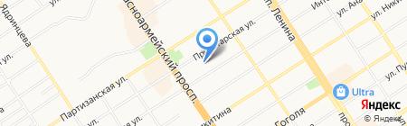 Лайнер на карте Барнаула