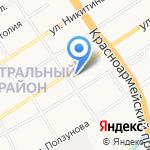 С легким паром на карте Барнаула