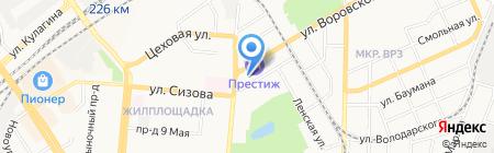 Алтайский каравай на карте Барнаула