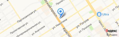 Пивная Трёшка на карте Барнаула