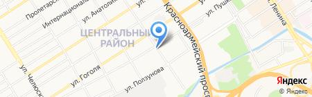 Регион на карте Барнаула