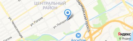 Флайкоат-Сибирь на карте Барнаула