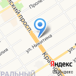 Никитинский на карте Барнаула