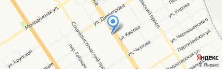 Плюшкин Букет на карте Барнаула