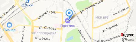 Prestige на карте Барнаула