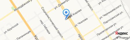 Дисконт Трэвел на карте Барнаула