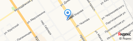 Афродита на карте Барнаула
