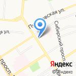 Маруся на карте Барнаула