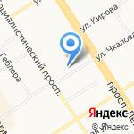 Средняя общеобразовательная школа №55 на карте Барнаула