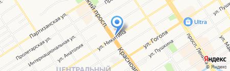 Авто Токио на карте Барнаула