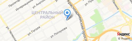 Русская баня на дровах на карте Барнаула