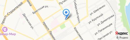 Тёплая усадьба на карте Барнаула