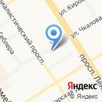Рельеф на карте Барнаула