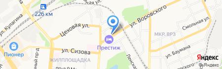Лисма на карте Барнаула