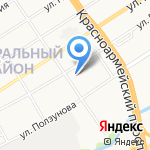 АвтоЛекарь на карте Барнаула