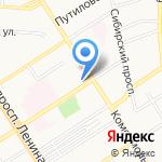 Алтайские лимузины на карте Барнаула
