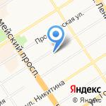 Артизан на карте Барнаула