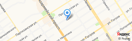 Брайтвуд на карте Барнаула