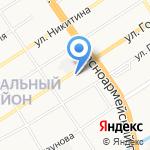 Управление Федеральной службы государственной регистрации на карте Барнаула
