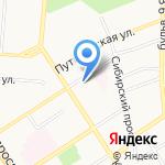 Ниагара на карте Барнаула